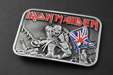 IRON MAIDEN THE TROOPER BELT BUCKLE HEAVY METAL PIECE OF MIND
