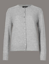 Brand New Ex Marks & Spencer Pure Cashmere Crew Neck Cardigan Size 14
