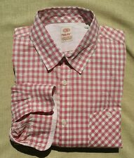 NWOT Mens XL Scotch and Soda L/S Gingham pale Pink Ivory Check Button Down Shirt