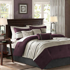Bedding Comforter Set King Size Soft Luxury Plum 7 Piece Sheets Cover Palmer New