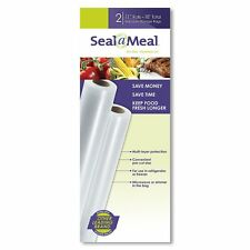 Seal-A-Meal 11-Inch by 9-Foot Rolls, 2pk Color: Clear FSSMBF0626-000 BRAND NEW