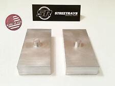 "[SR] 1"" Billet Rear Lift Blocks Kit for Nissan Titan / Silverado 2500 3500 HD"
