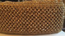1 Mtr Indian Fancy Diamanté Beaded Trim Lace Ethnic Ribbon Craft Sari Border
