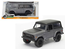 1973 FORD BRONCO MATT GREY 1/24 DIECAST MODEL CAR BY JADA 98279