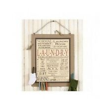 Laundry Room Signs Wall Decor Rustic Country Board Wood Retro Style Decoration