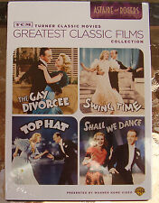 FRED ASTAIRE & GINGER ROGERS 4 FILMS DVD R4 GAY DIVORCEE SWING TIME TOP HAT +