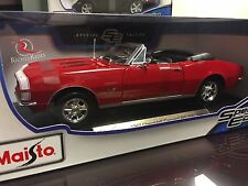 Maisto 1:18 Scale Diecast Model - 1967 Chevrolet Camaro RS/SS 396 (Red)