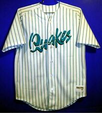 RANCHO CUCAMONGA QUAKES MINOR LEAGUE BASEBALL WHITE PINSTRIPE JERSEY