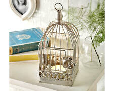 Bird Cage Tea-Light Candle Holder Table Feature Ornament Decoration