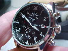 NICE LARGE CHRONO WATCH BY OCHSTIN 43MM CASE BLACK DIAL NICE