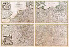 Mapa Antiguo 1775 Zannoni Imperio Alemán Antiguo Grande Replica Poster Print pam0225