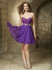 BD25 MORI LEE 9351 PURPLE SZ 8 #2363 $298 FORMAL HOMECOMING PROM GOWN DRESS NWT