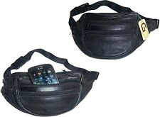 Lat of 2 New Leather waist pouch waist bag leather bag Fanny pack strap bag NNWT