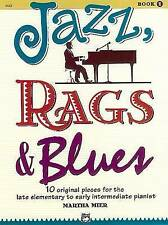 Jazz, Rags And Blues Piano Tuition Book by Martha Mier EXCELLENT CONDITION