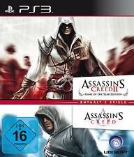 Figuras assassins creed 1 + 2 Game of the Year Edition doble pack para PlayStation 3 ps3