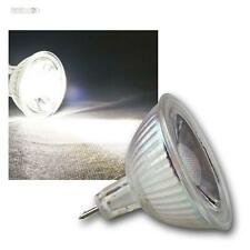 10 x COB MR16 Cristal Bombilla blanco luz fría 420lm Focos, Lámpara, Foco 12V 5W