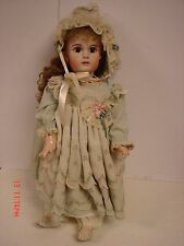 BISQUE STEINER DOLL 22 IN A9 SILK DRESS JOINTED BODY REPRODUCTION BY  L & A MARX