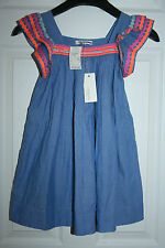 GIRLS' NELLYSTELMA FOR J.CREW EMBELLISHED CHLOE DRESS SIZE 8 BLUE RETAIL $147