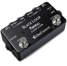 One Control Black Loop 2 Loop True Bypass Line Selector Switching Pedal DC Outs