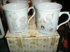 Precious Moments 4 PC Mug Set w/ Original Box 1984 E-9195