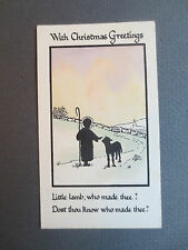 Vintage Greetings BOOKMARK CHRISTMAS Little Lamb Who Made Thee Holy Cross Series