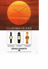 PUBLICITE  1979   SEIKO QUARTZ  collection montres
