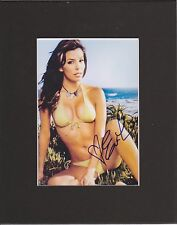 EVA LONGORIA DES HOUSEWIVES 8 by 10 MAT REPRINT PHOTO & AUTOGRAPH PHOTO IS 5 X 7