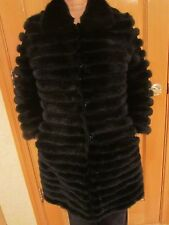 LADIES NEW BLACK color  REAL MINK / SUEDE COAT size 8-10