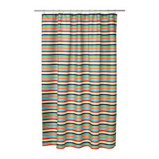 IKEA BOKVIK Striped Multicolour Shower Curtain (180x180cm)