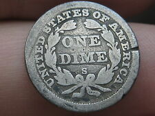 "San Francisco ""S"" Seated Liberty Dime- Very Rare Key Date"