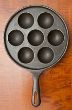 NICE GRISWOLD CAST IRON EGG POACHER OR APPLE CAKE PAN CIRCA: 1920'S  P/N 962