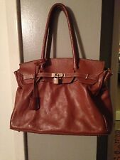 Designer Inspired Genuine Leather Birkin Style Handbag