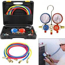 Refrigeration Air Conditioning AC Diagnostic Manifold Gauge Tool Set R410A R134A