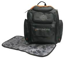 Harley-Davidson Baby Embroidered Bar   Shield Diaper Bag Backpack Black  7150877 c5a3feeae3ece
