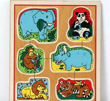 Puzzle bois à encastrer Playskool vintage