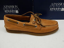 SPERRY TOP SIDER MENS BOAT SHOES A/O 2-EYE SAHARA SIZE 9 Wide