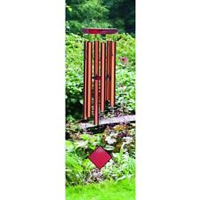 Woodstock Bronze Pluto Wind Chime with Bubinga Wood Finish Rust Proof