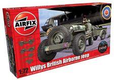 Airfix 1502339 Willys British Airborne JEEP 1:76 modellismo modello veicolo