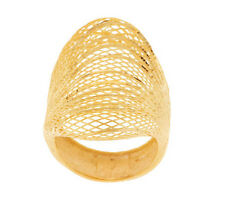 Diamond Cut Wire Wrapped Saddle Ring 14K Gold Size 5 -Ori. Price $547 - QVC