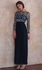 Frock & Frill Sade Embellished Maxi Dress Navy Size 10 Stunning Party Cocktail