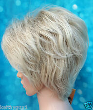 Ladies Hivision short synthetic straight blonde hair full wig classic cap