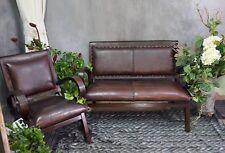 Ledersessel Sessel Leder Teakholz Holz Lounge Clubsessel Cocktailsessel 209