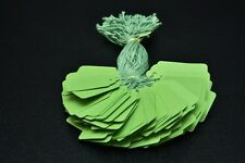 100 GREEN STRUNG PRICE TAGS 45MM X 28MM SWING TICKETS