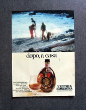 [GCG] I832 - Advertising Pubblicità -1979- VECCHIA ROMAGNA BRANDY ETICHETTA NERA