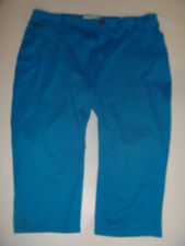 Stretch Denim Capri Jeans Size 18 Fashion Bug Crop Turquoise Blue 5 Pocket TP