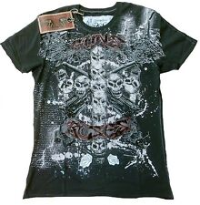Amplified SAINT&SINNER GUNS N'ROSES STRASS Cross Skull's ViP WoW T-Shirt g.L/XL