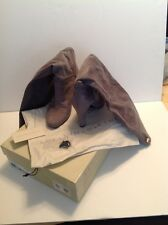 STELLA McCARTNEY GREY SUEDE BOOTS SIZE 10 1/2, NEW WITH BOX ( KNEE HIGHT )