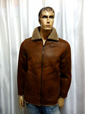 Buffalo David Bitton mens winter Faux Shearling Zip RUST Coat jacket S NEW $250