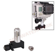 Black+Silver 20mm Picatinny Weaver Gun Rail Mount for GoPro Hero1 2 3 3+4Camera