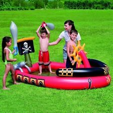 Pirate Ship Paddling Play Pool With Inflatable Swords & Water Cannon By Bestway